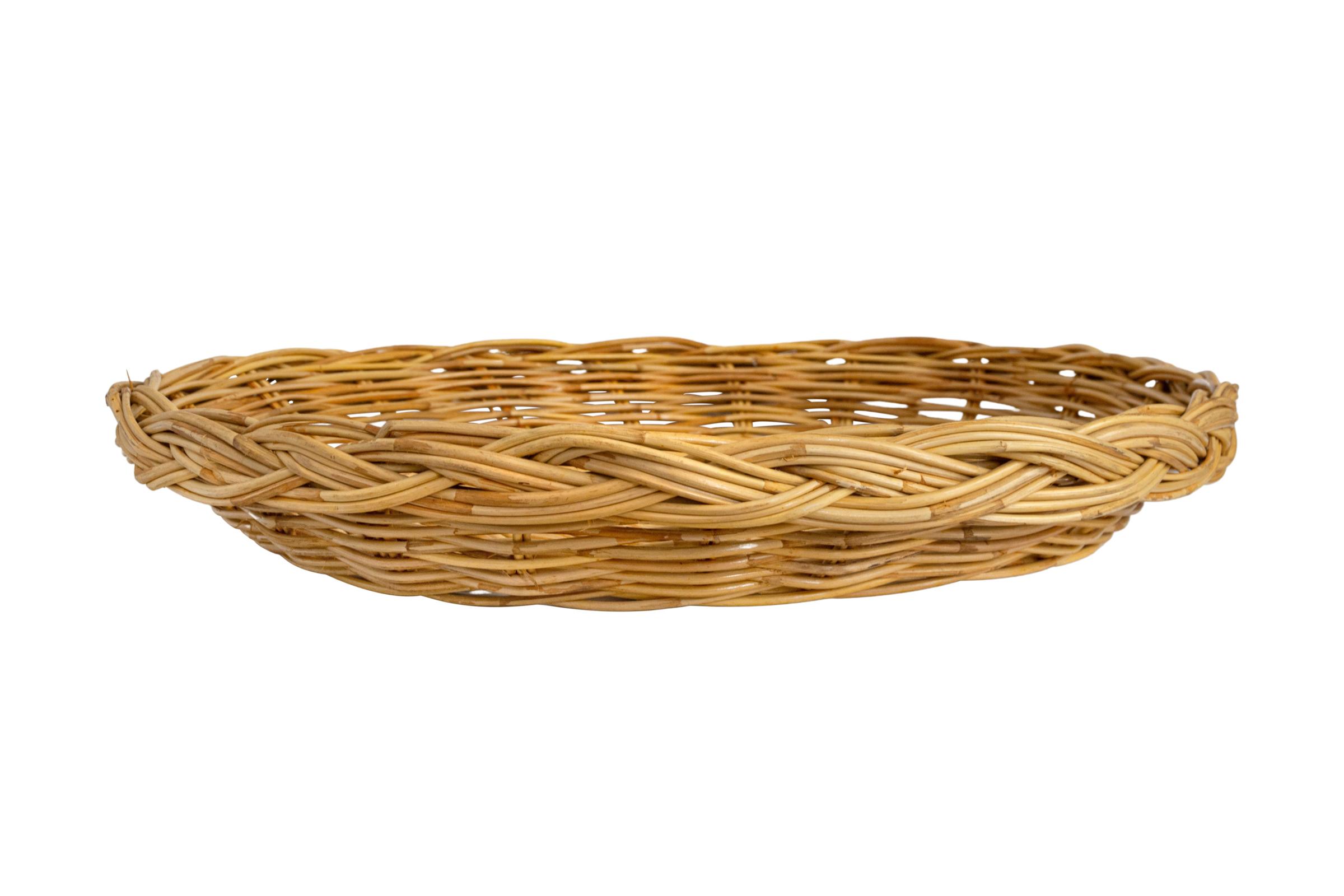 Bandeja redonda en fibra natural