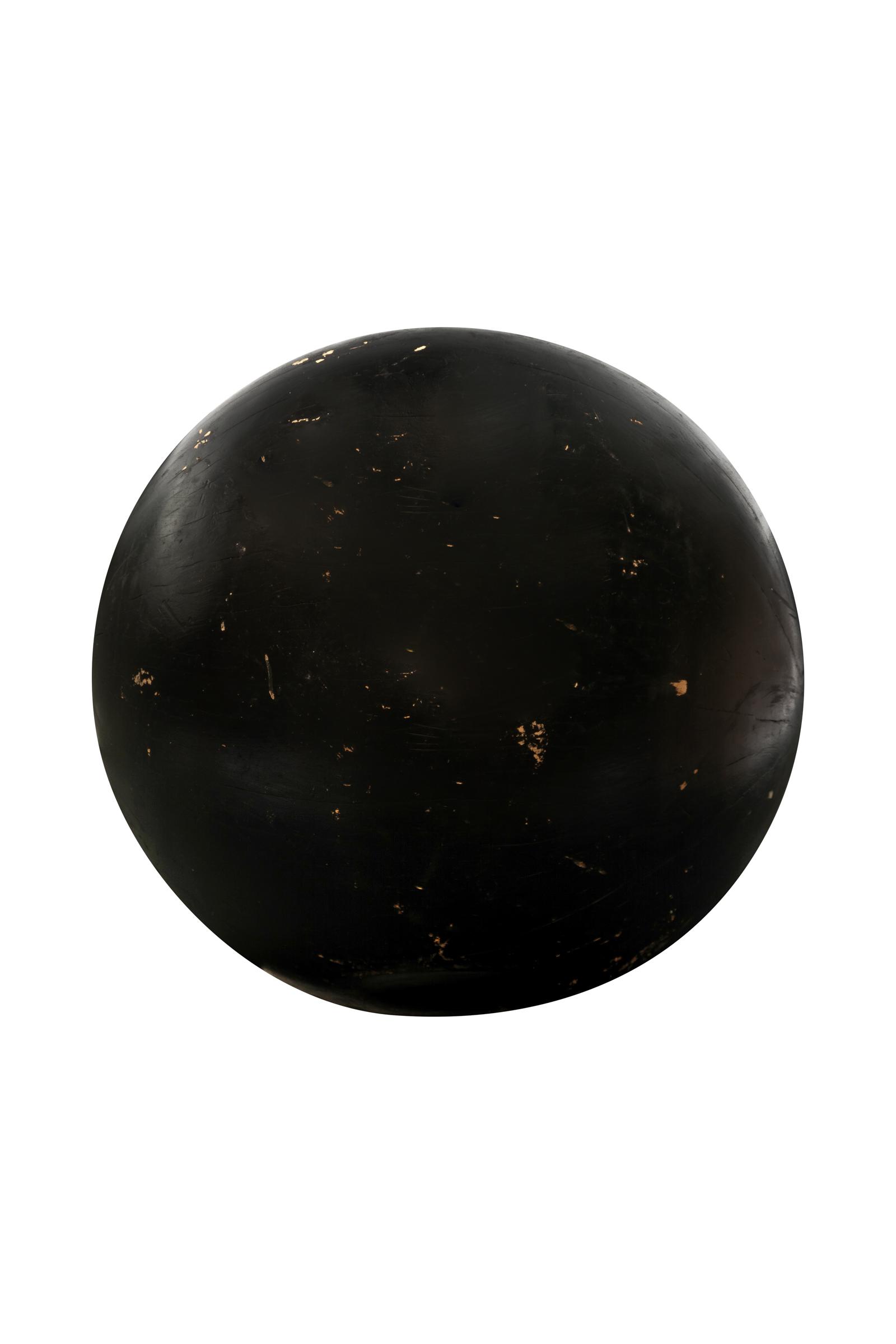 Esfera decorativa madera teka-negra