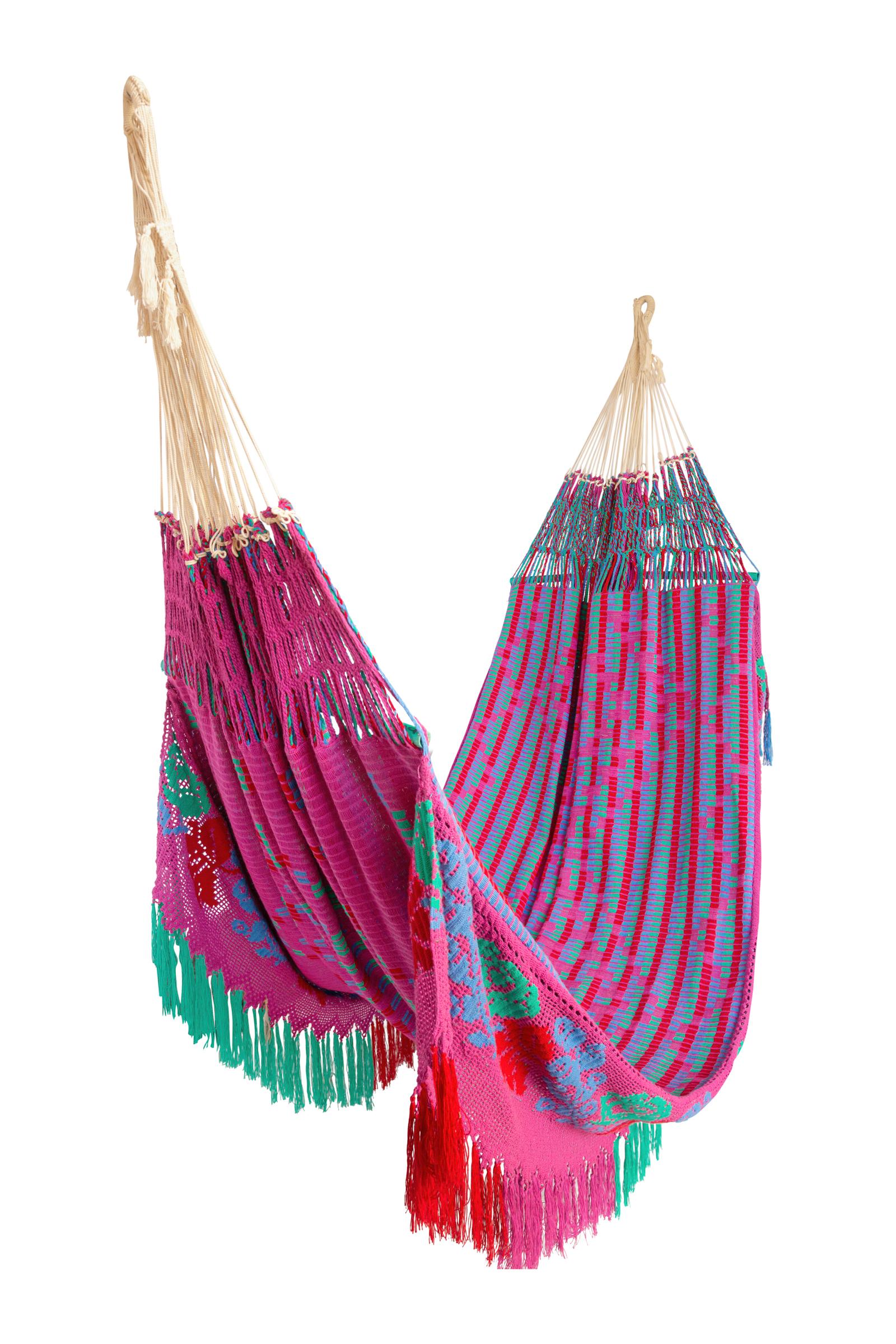 Chinchorro Wayuu fucsia-multicolor