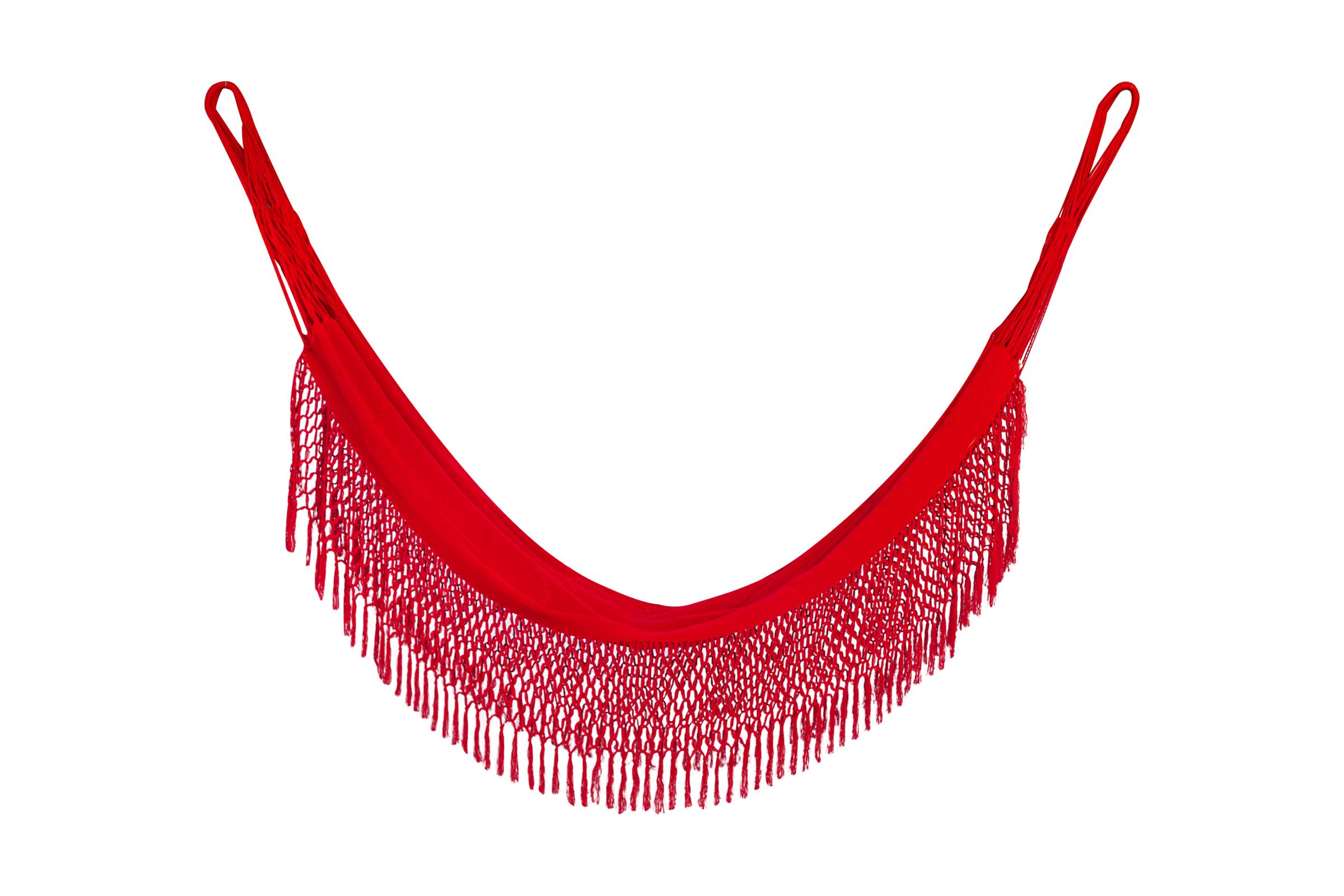 Hamaca Colombiana en algodón-rojo