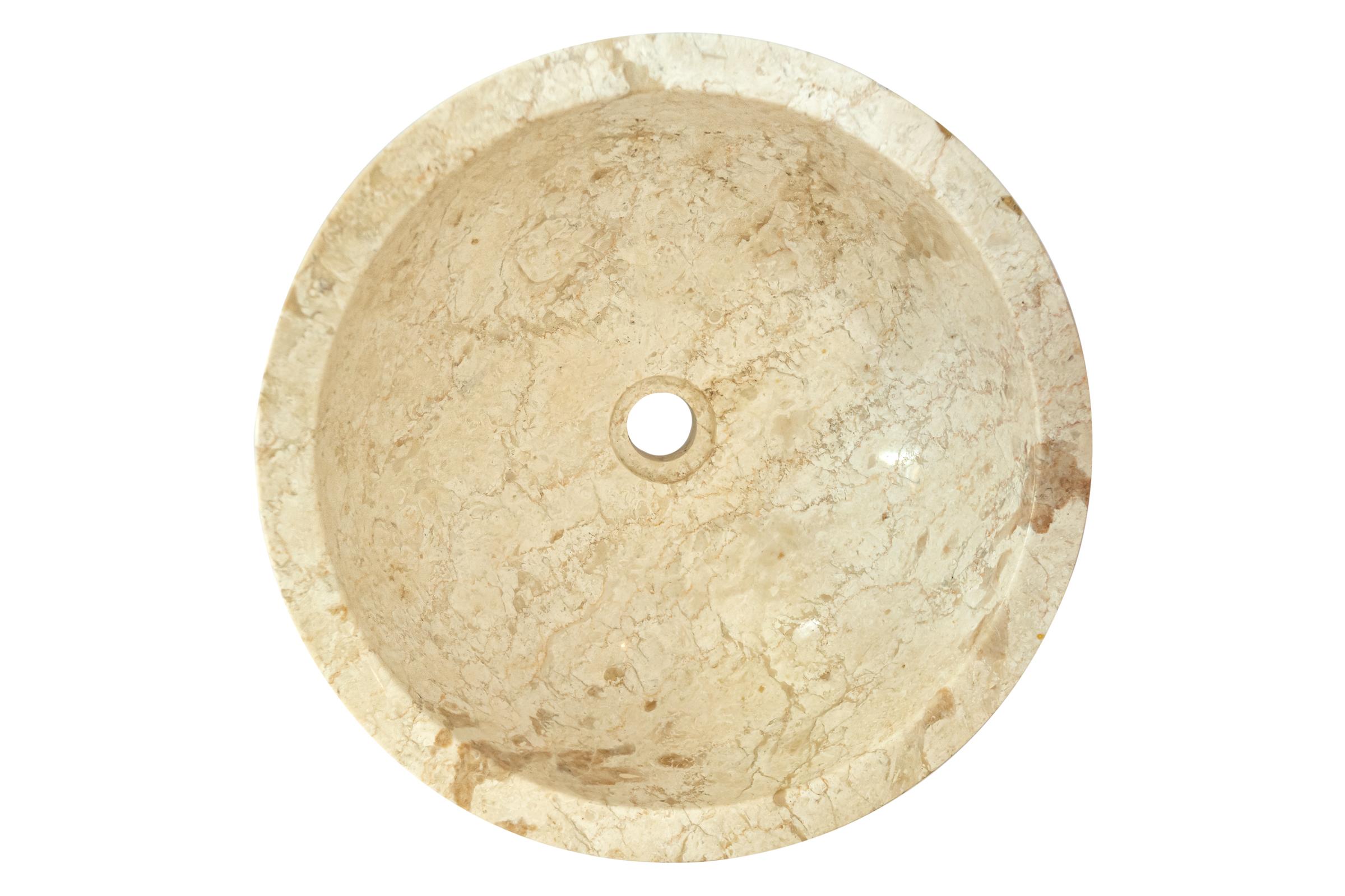 Lavamanos redoondo de mármol