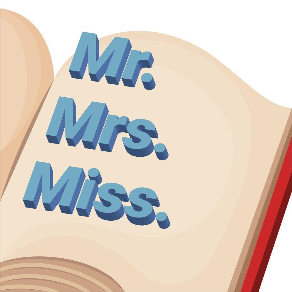 Diferencia entre las palabras en inglés Mr., Mrs. y Miss