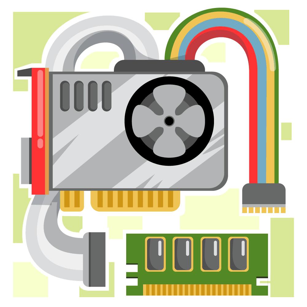 Interior de una computadora mostrando sus diferentes componentes internos