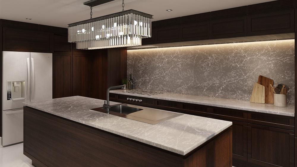 polaris quartz countertop