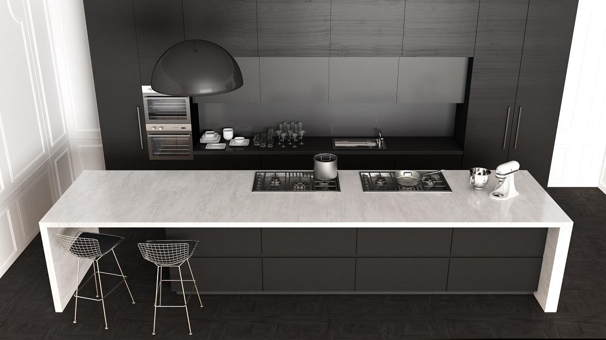 polished quartz countertop