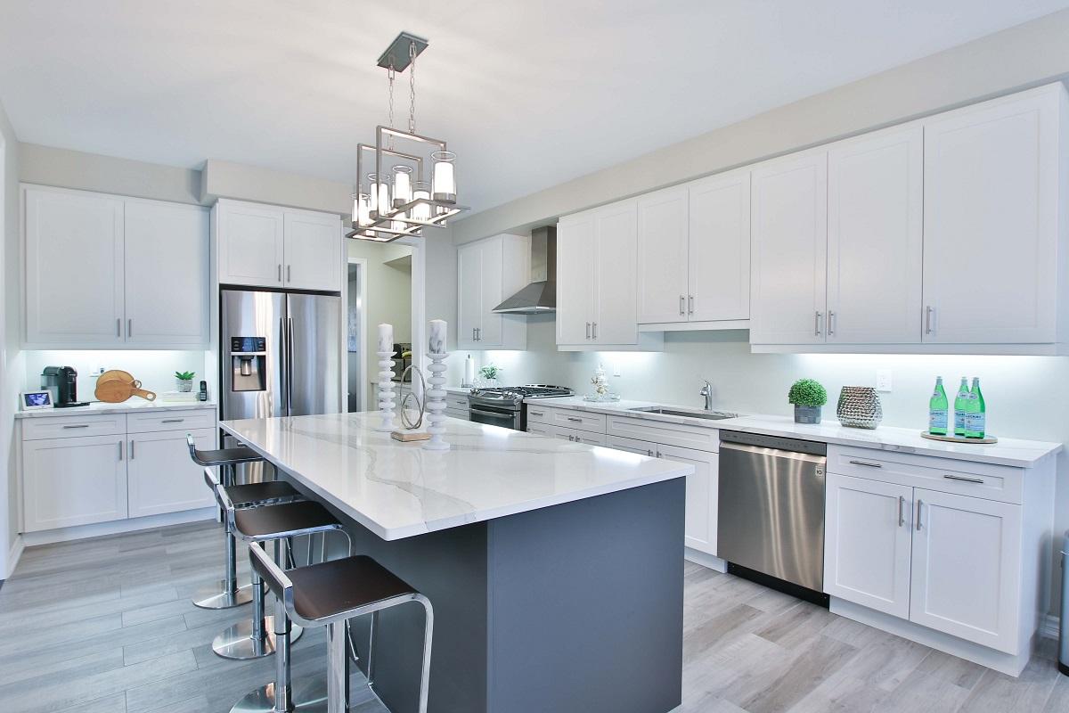 modern marble kitchen countertop