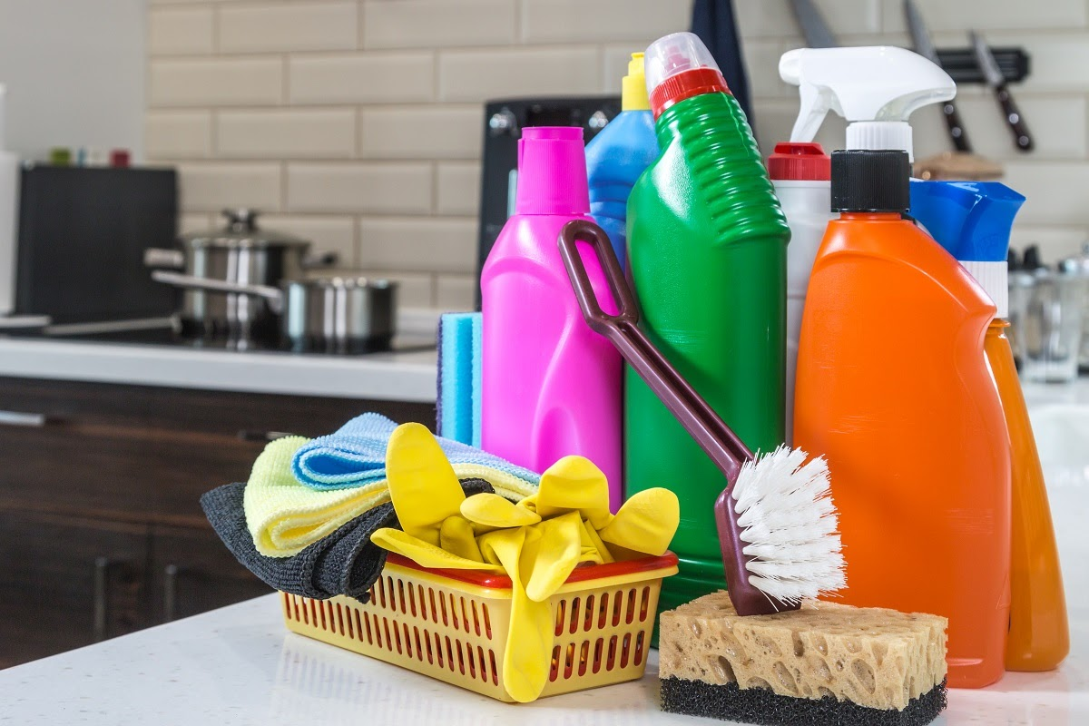 quartz countertop cleaning tools and products