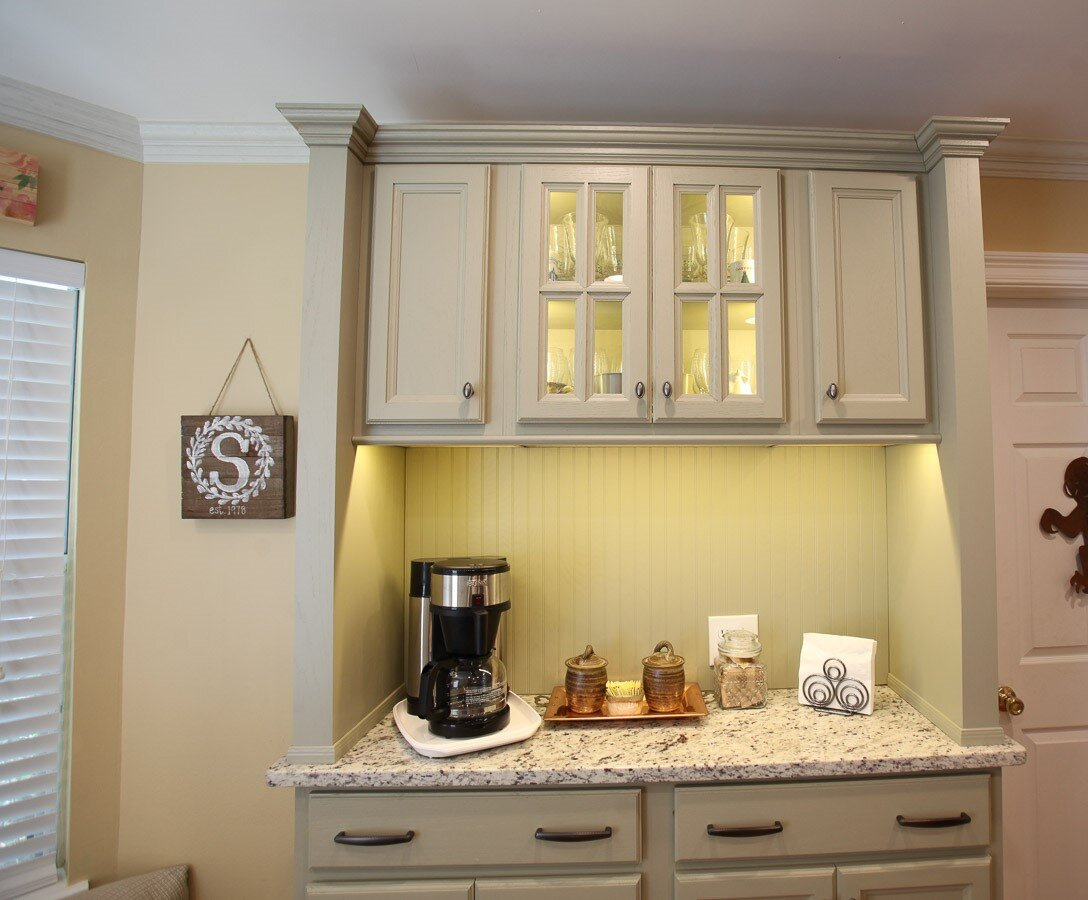 Celery maple cabinets design project in Tipton, TN