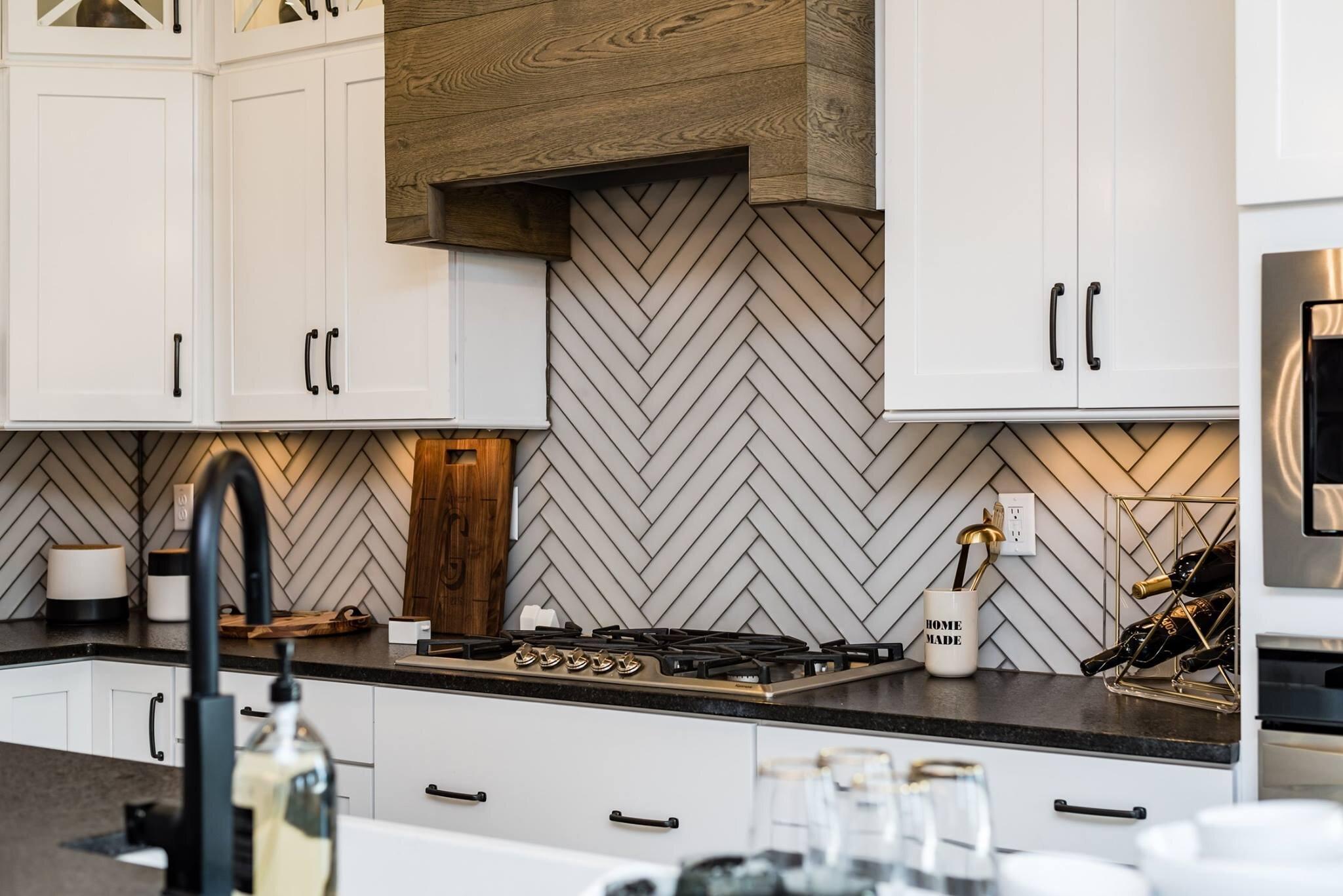 Bella maple white kitchen design project in Fayette, TN