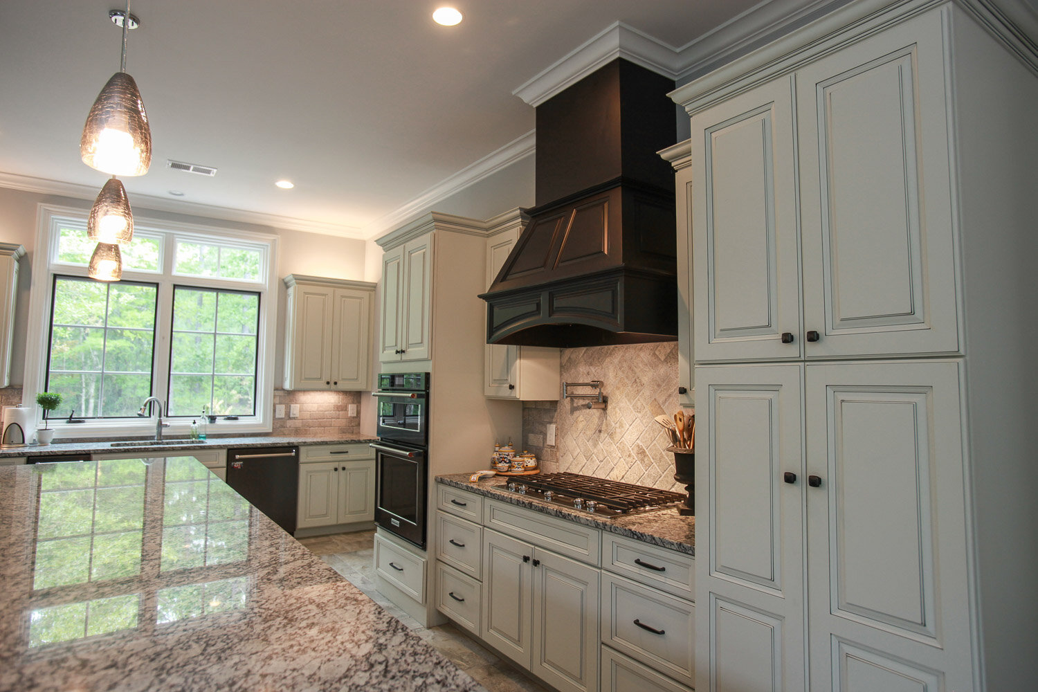 Icy mint maple kitchen design project in Shelby, TN
