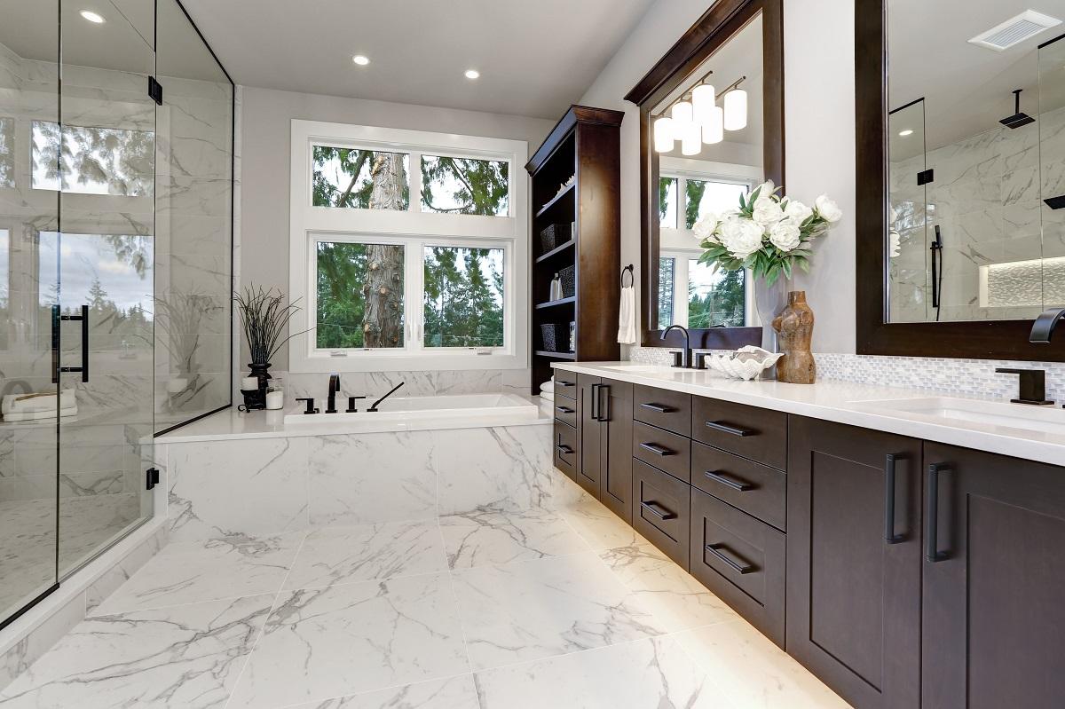 Brown Bathroom Cabinets