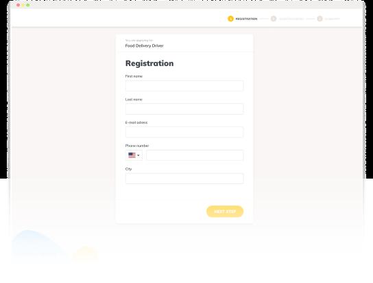 Sourcie registration form