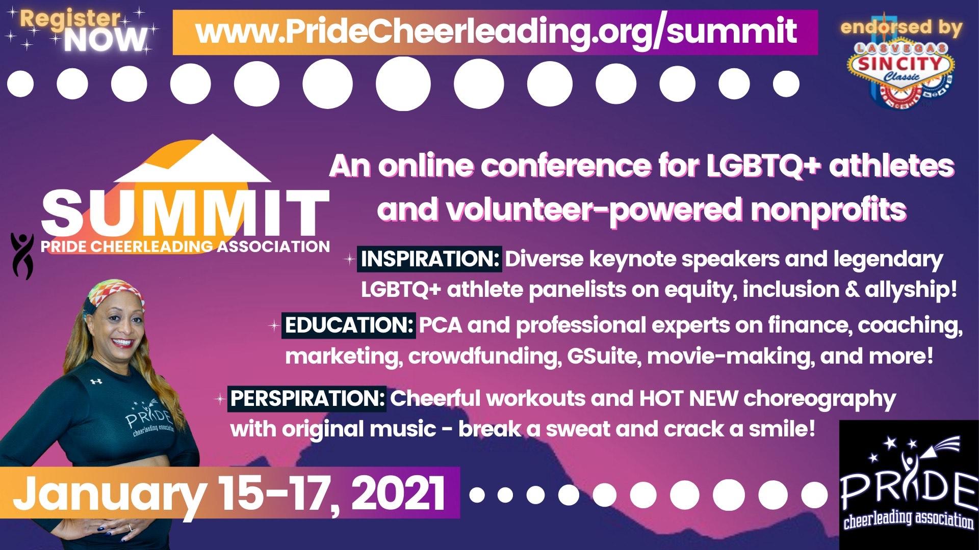 Pride Cheerleading Summit, January 15-17