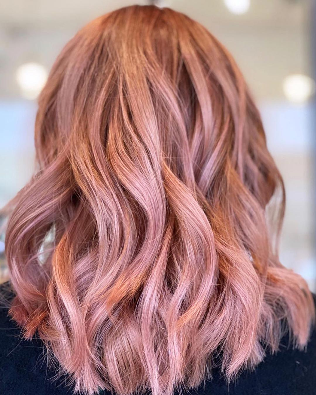 Pretty in pink!💕💓 Gorgeous rosy pink color, cut, and style created by Owner/Stylist, Sophie Davies
