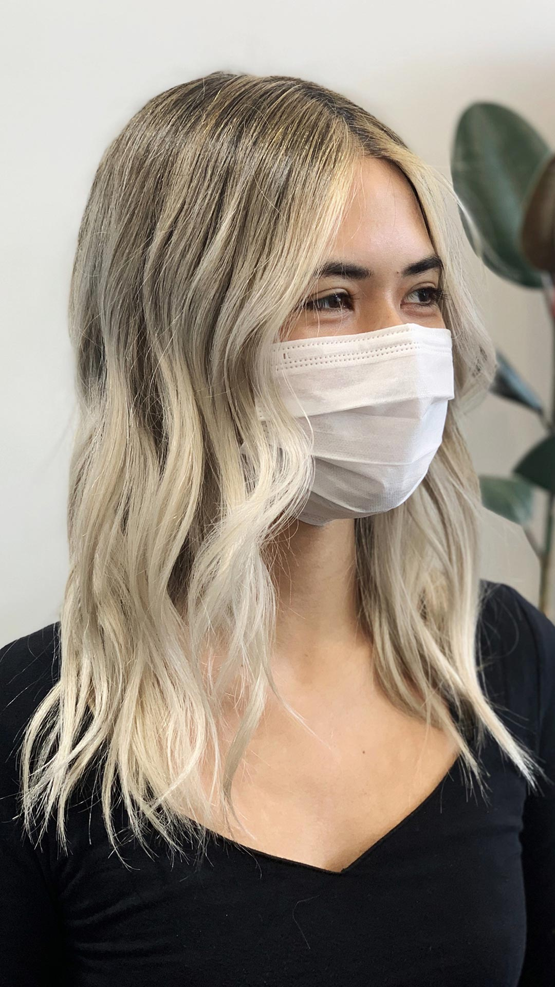 Platinum highlights with hand-painted ends. Perfect for a seamless grow out. Cut and Color by Mariah