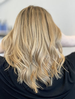 A perfect honey blonde for summer. Hair cut / style & color by Owner/Stylist Sophie Davies