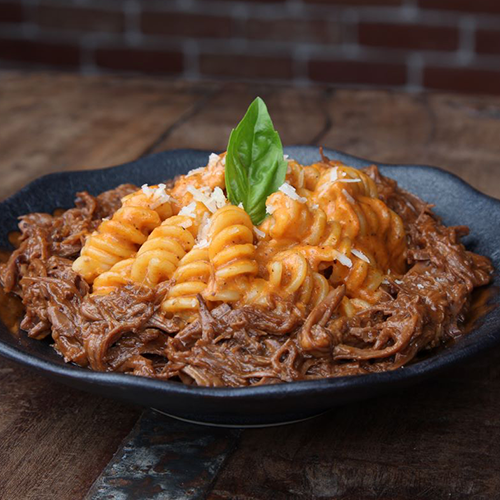 Smoked Beef Brisket Pasta for 4