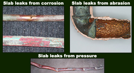 cooper pipe slab leak