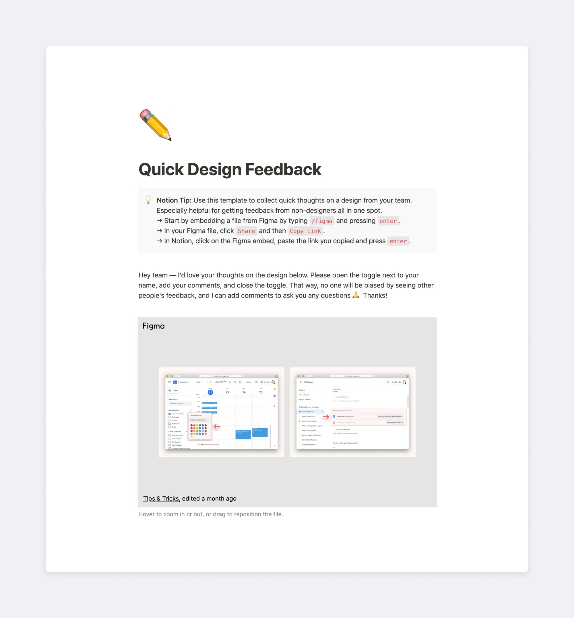 Quick Design Feedback