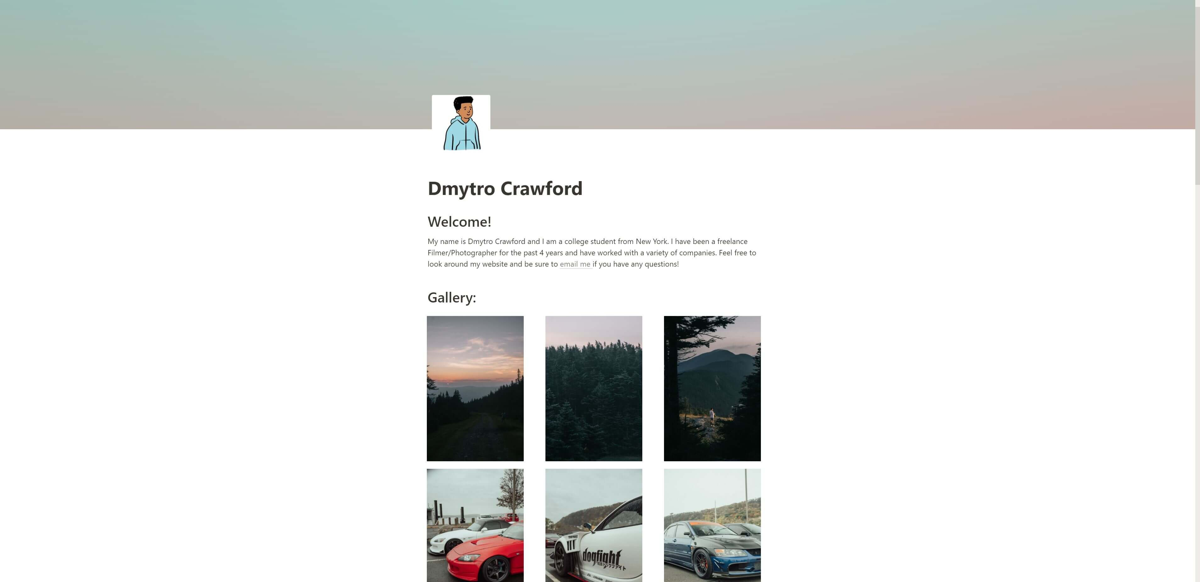Simple Website for Creatives