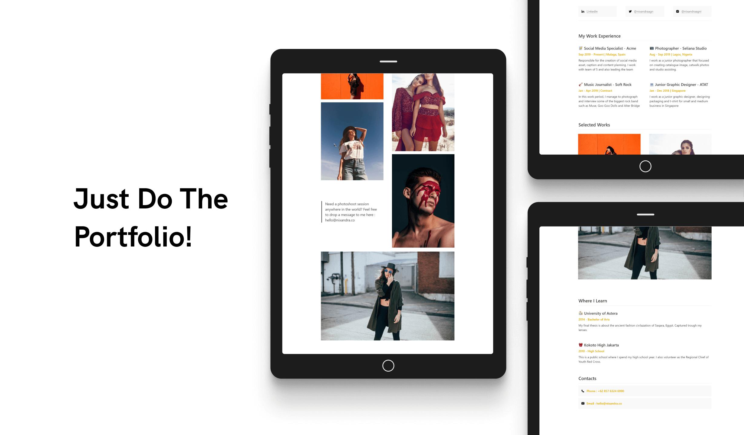 Portfolio-Resume Template