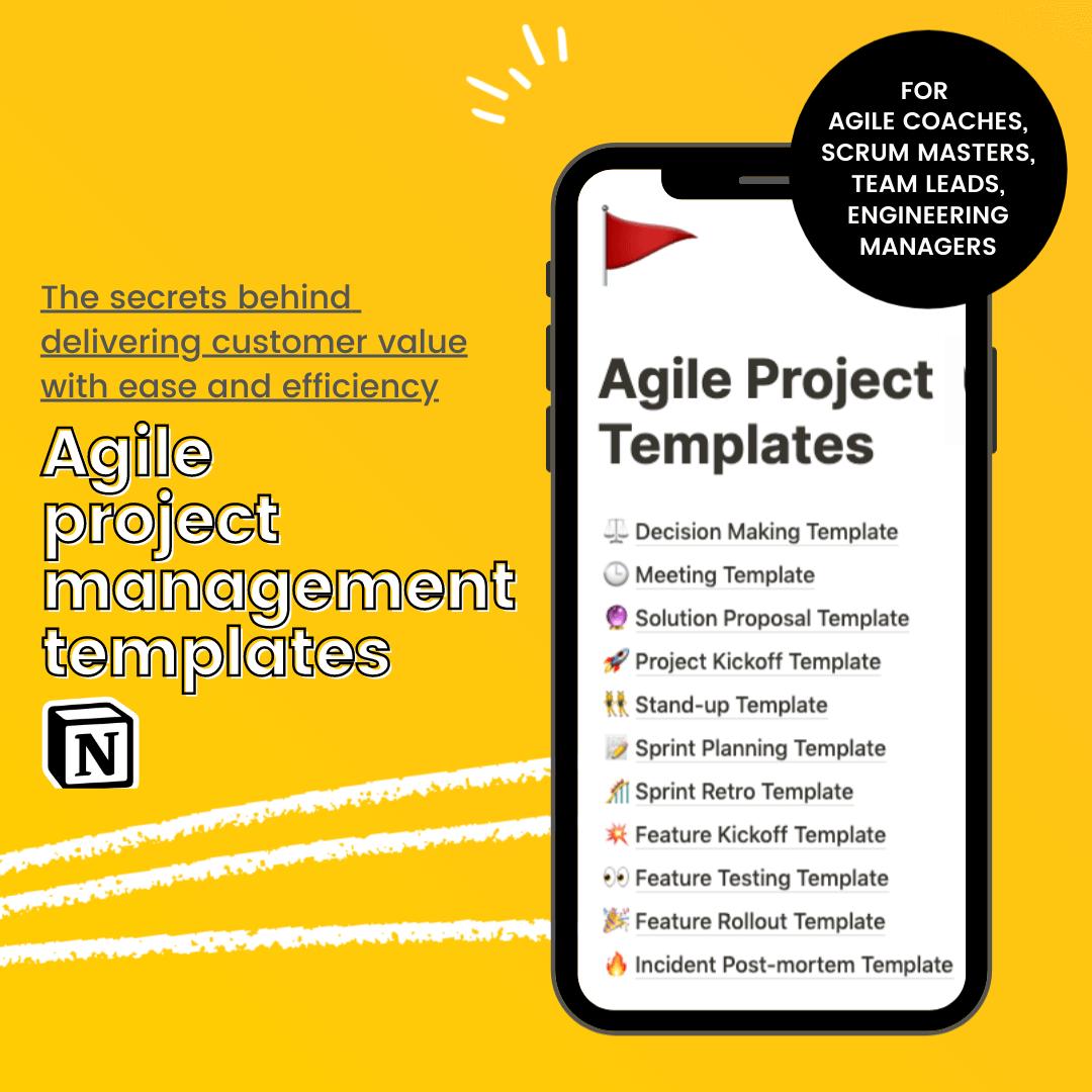Agile Project Management  Templates