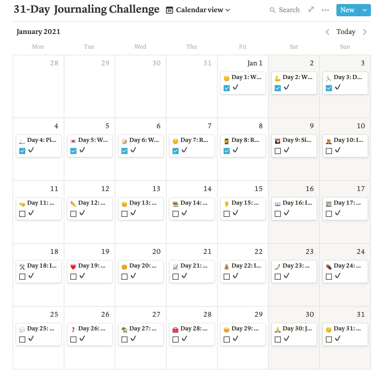 31-Day Journaling Challenge