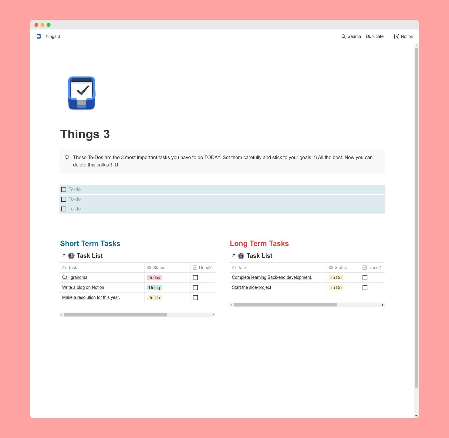 Ultimate TaskList - 3 Templates Bundle
