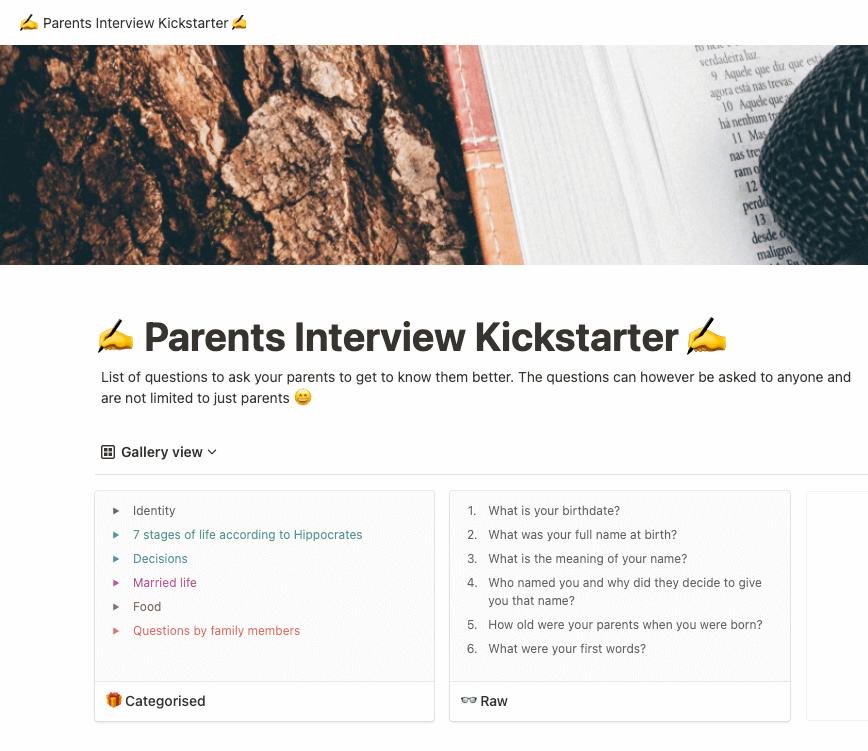Parents Interview Kickstarter