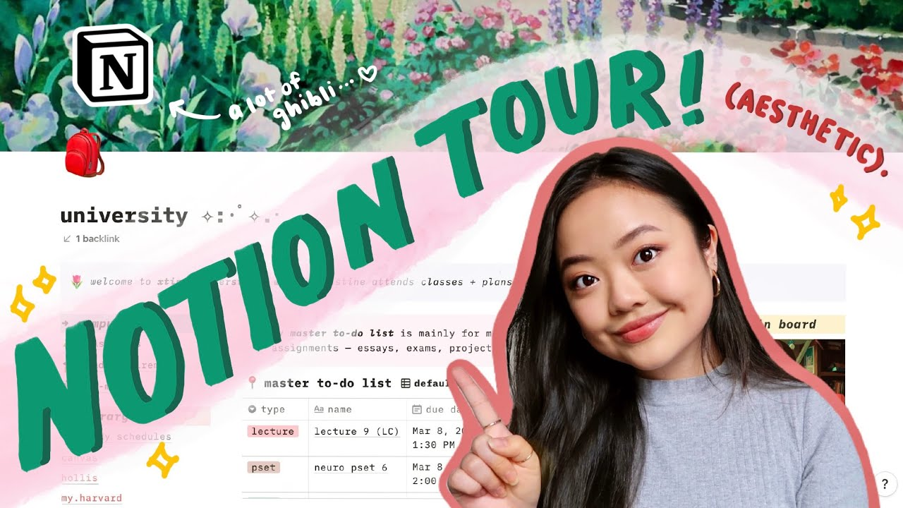 using notion as a college student | full set-up + free template! ✨