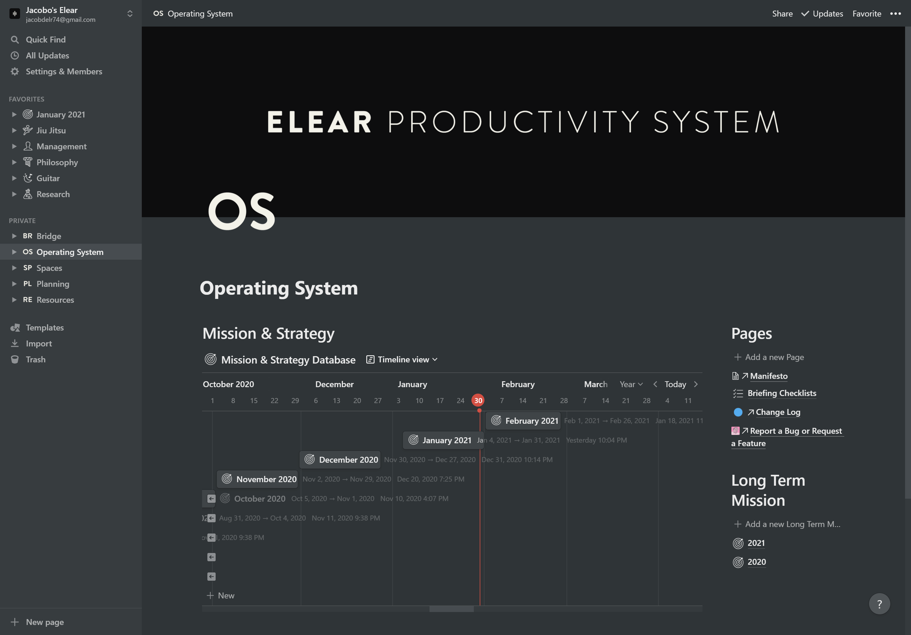 Elear Productivity System
