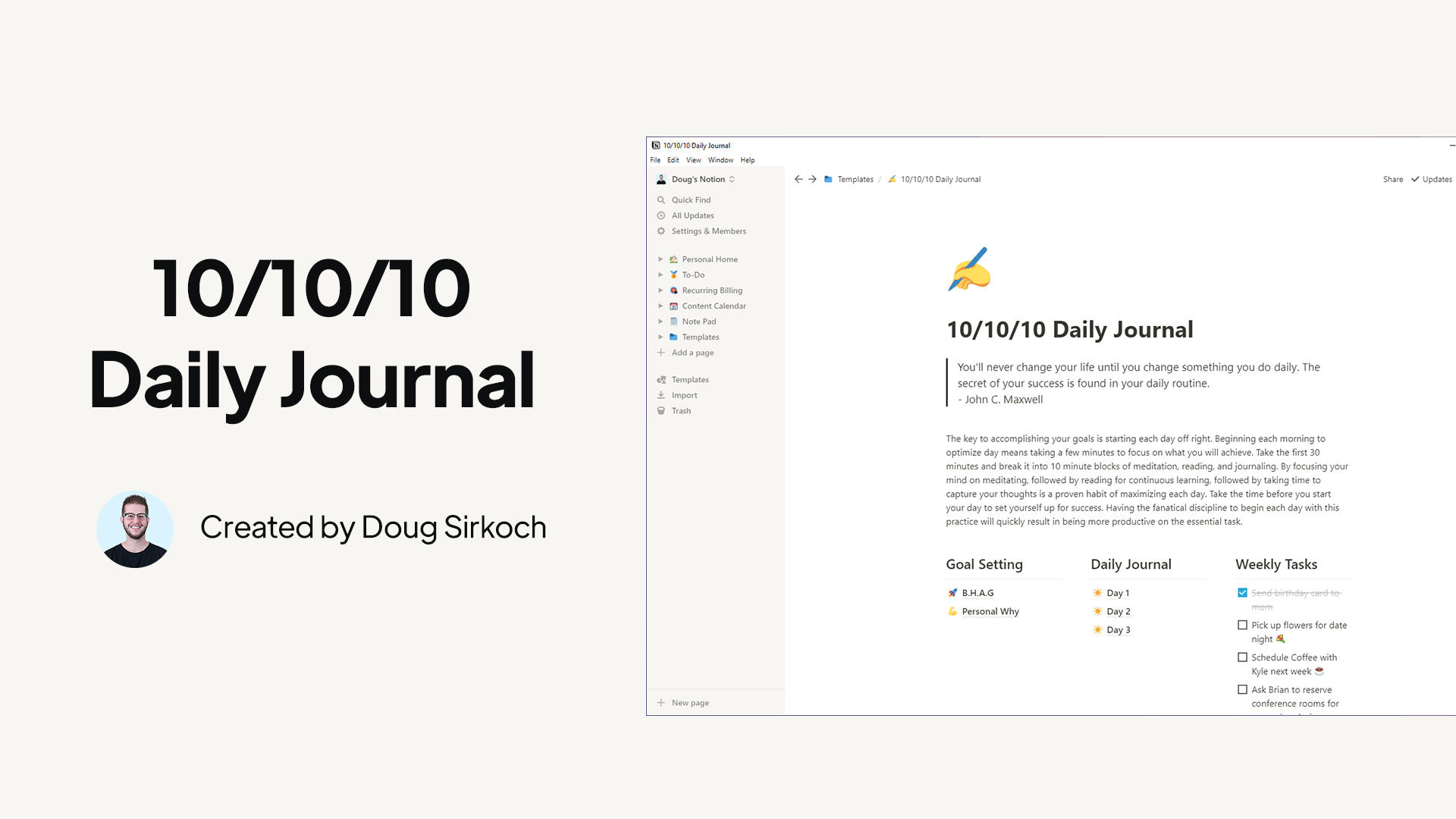 10/10/10 Daily Journal