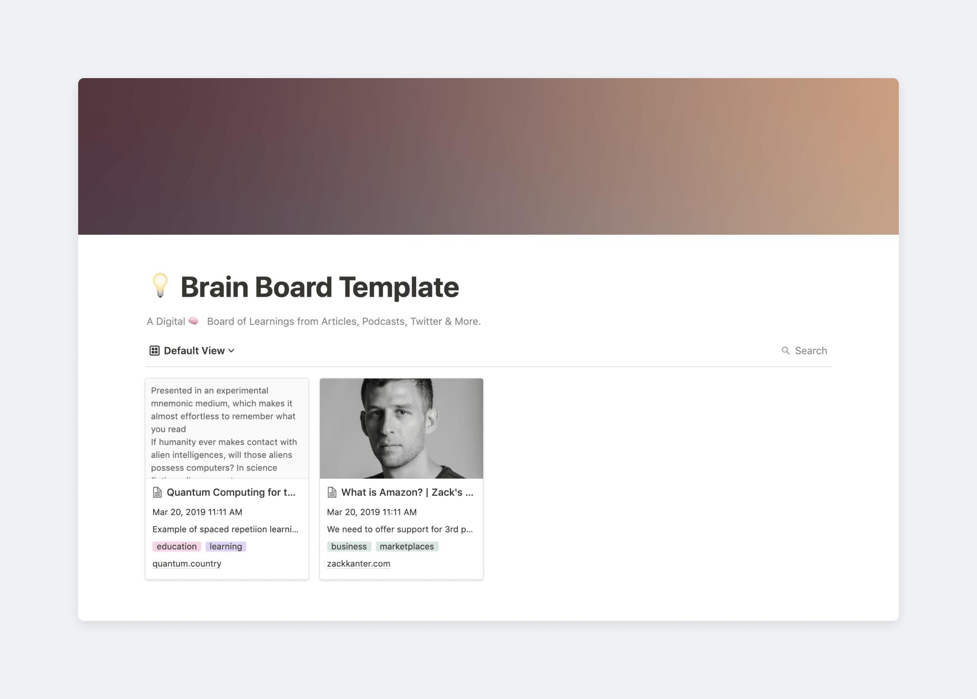 Digital brain board
