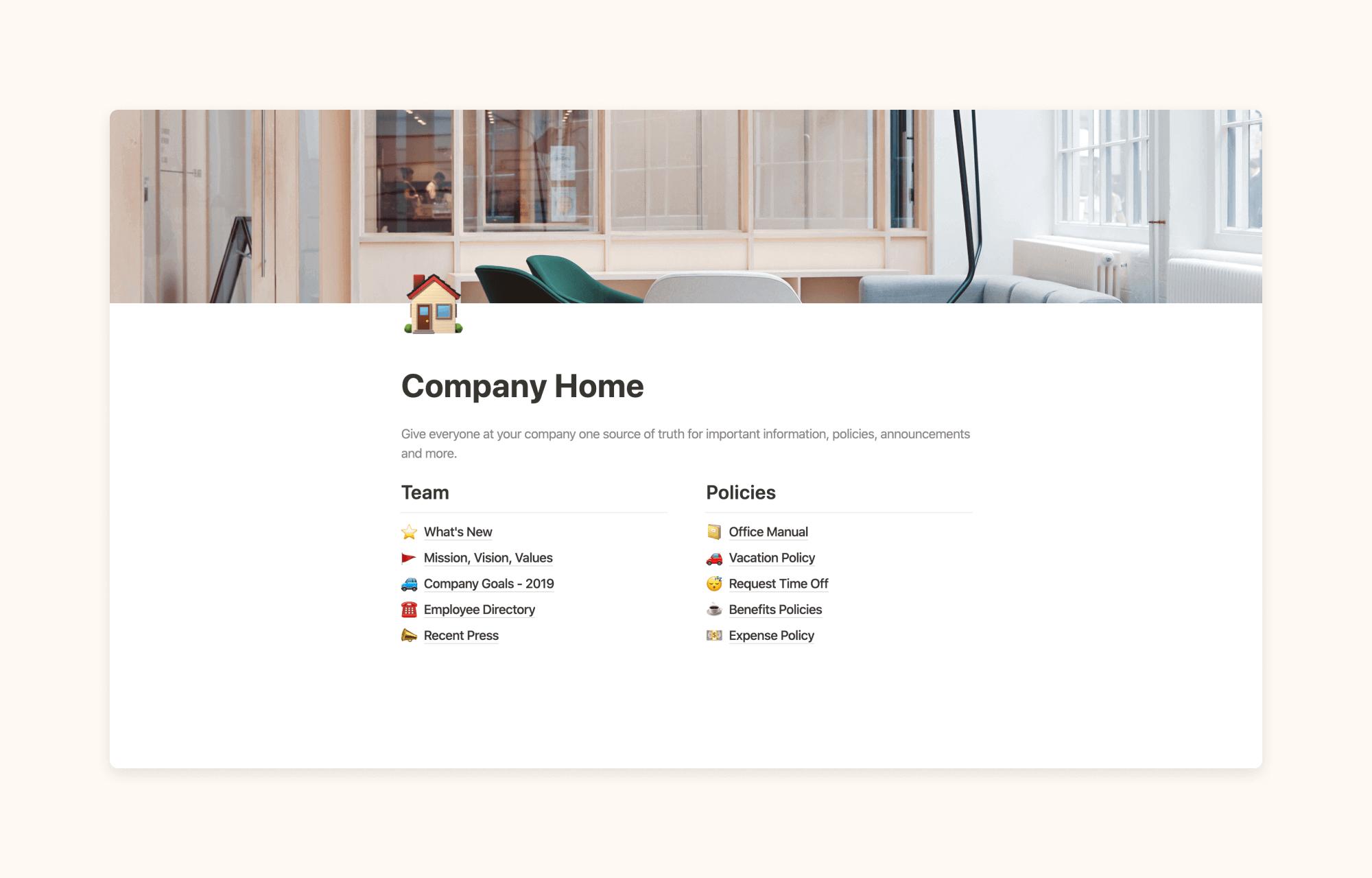 Company Home