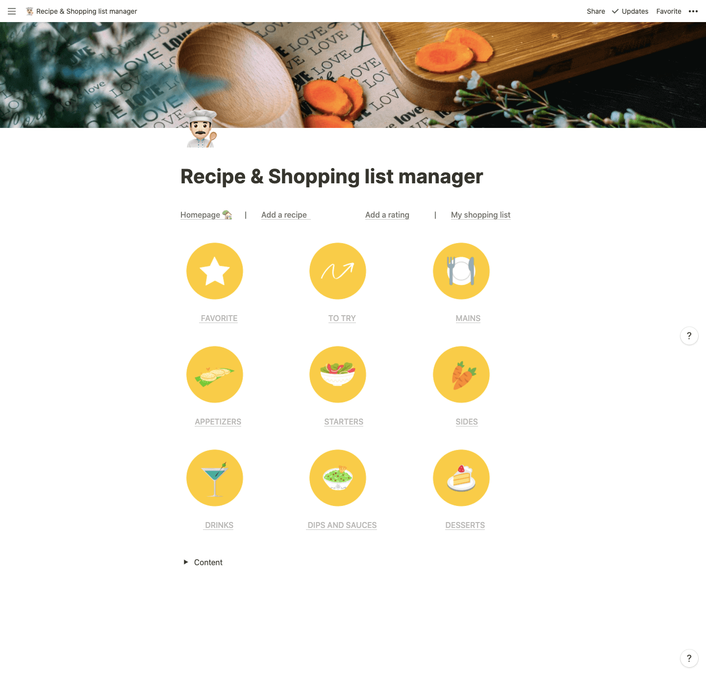Recipe & Shopping list manager