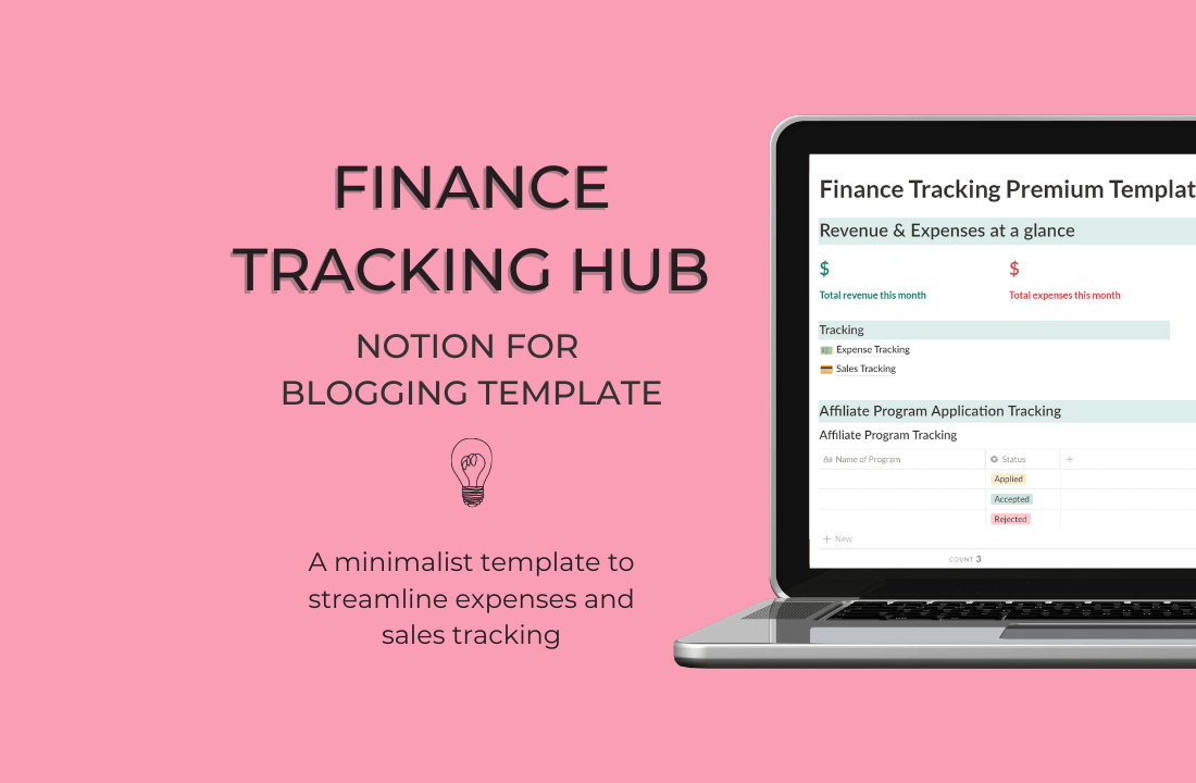 Blog Finance Tracker Bundle