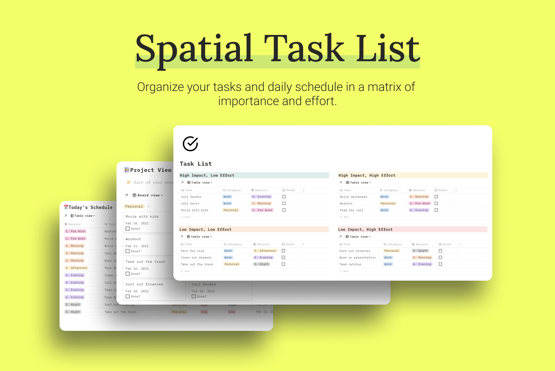 Spatial Task List