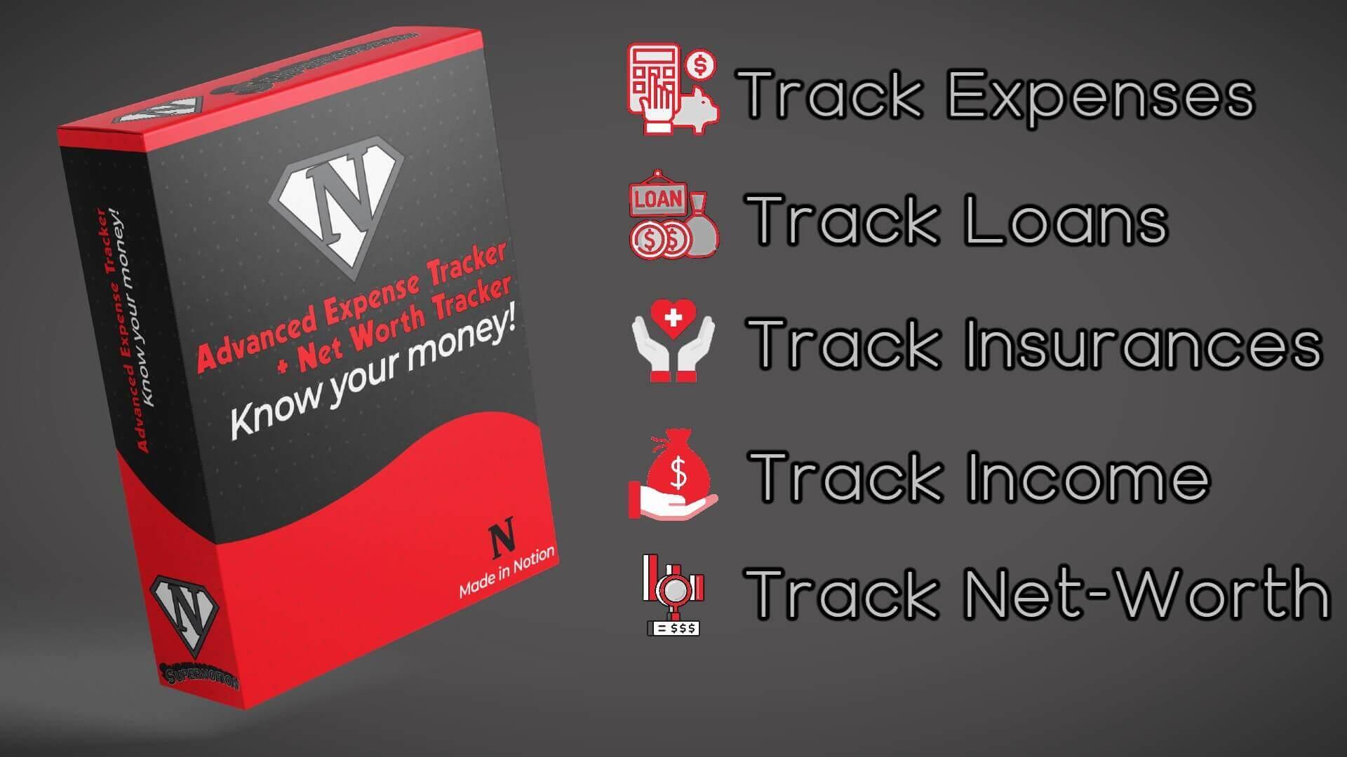 Advanced Expense Tracker + Net worth Calculator