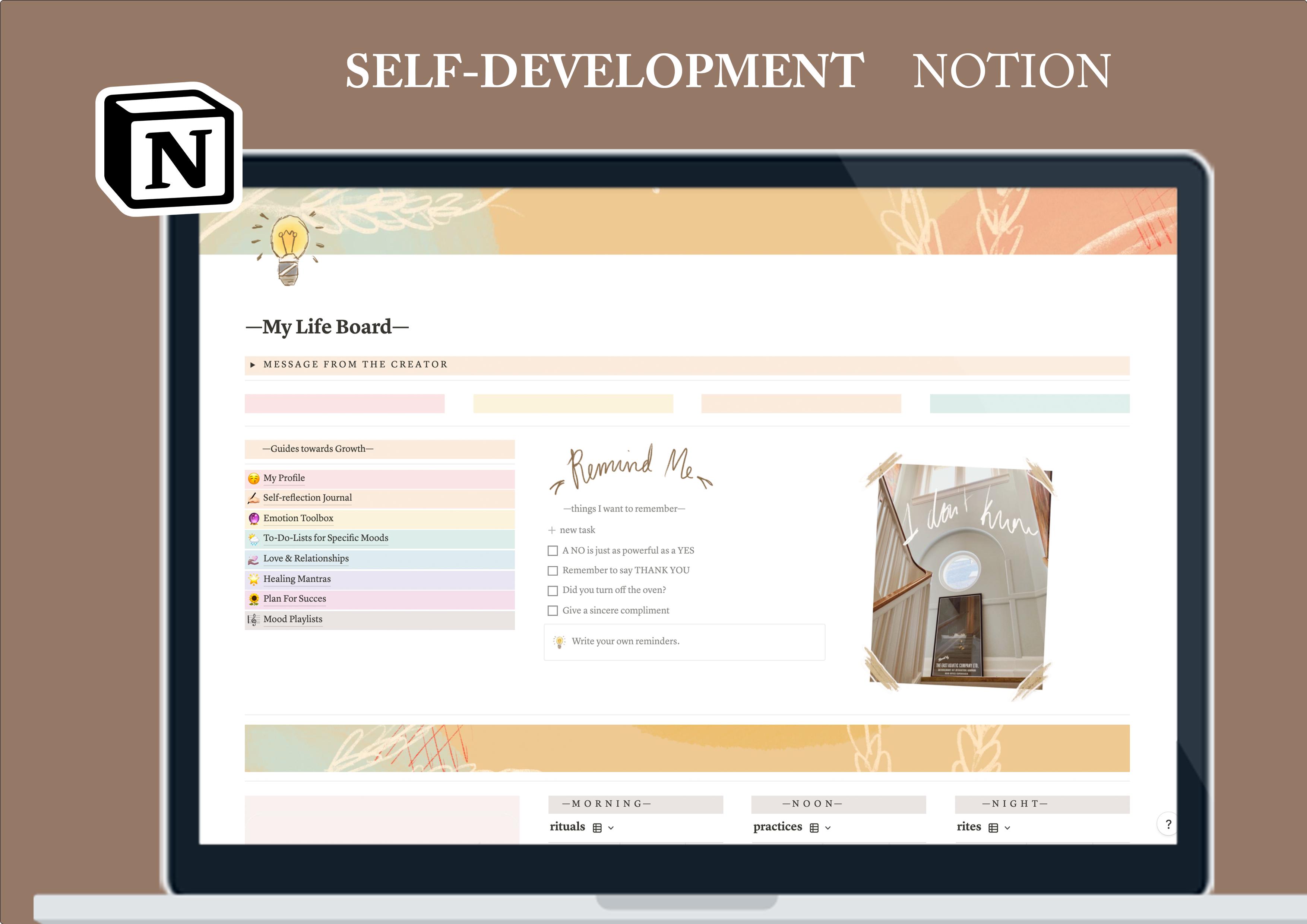 Aesthetic Self-development Template