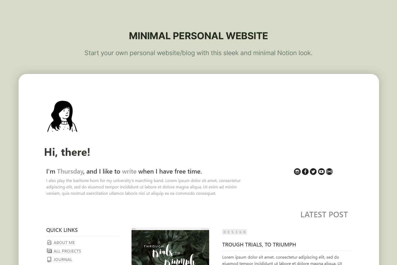 Minimal Personal Website