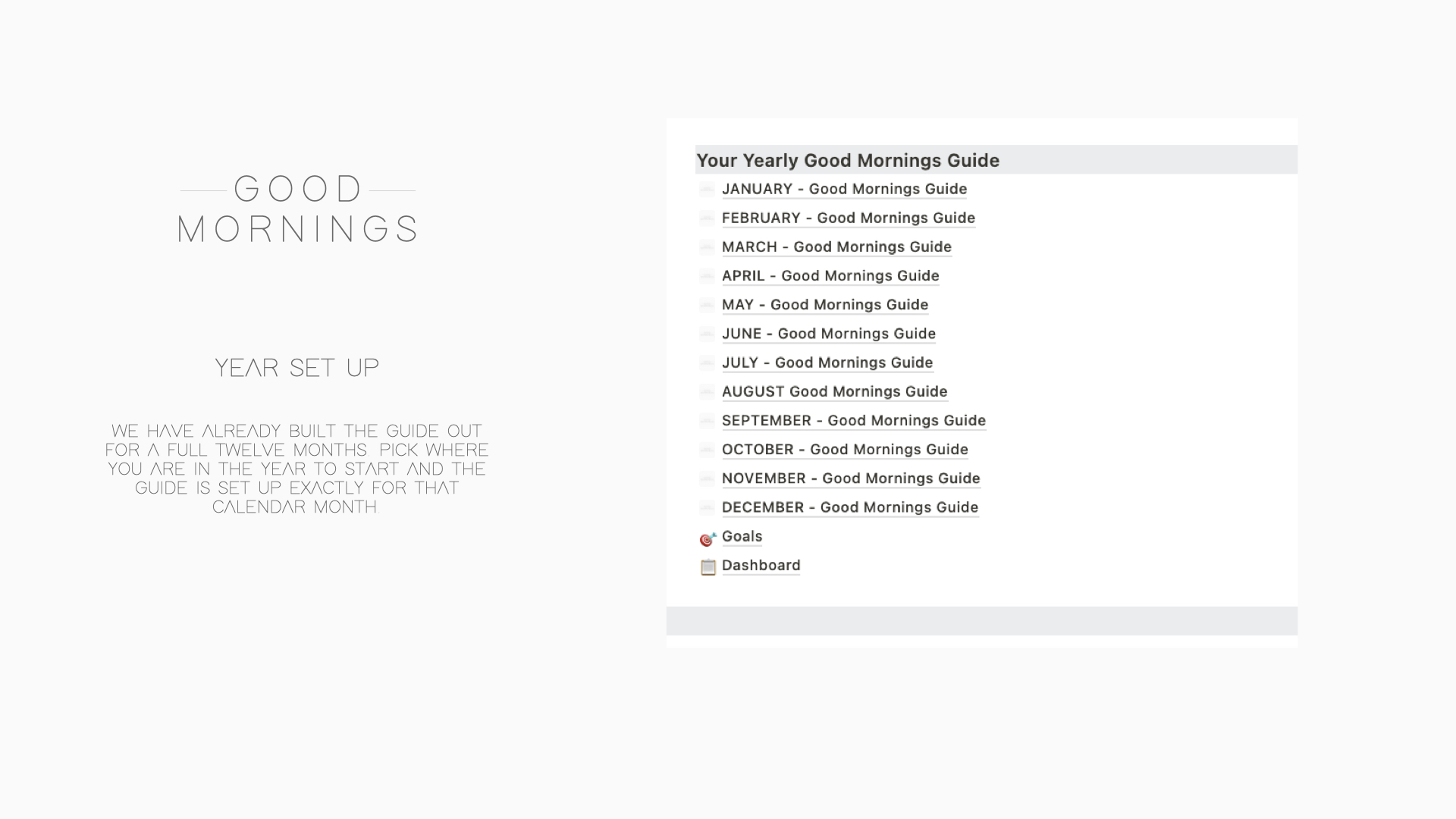 The Good Mornings Guide