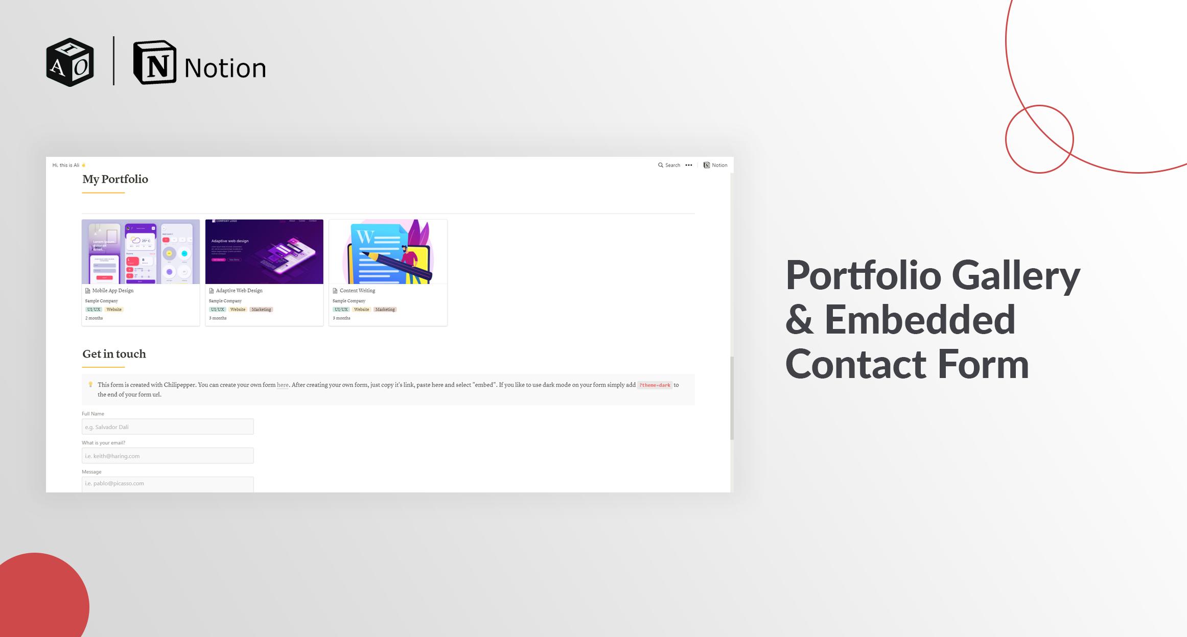Portfolio & CV Template