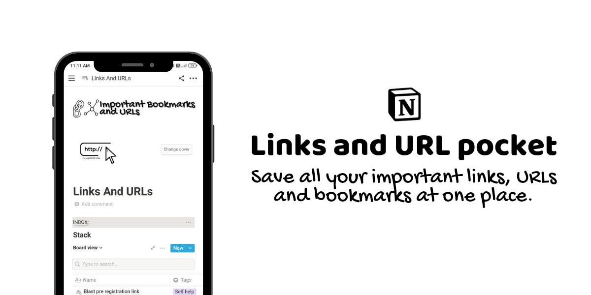 Links and URLs pocket