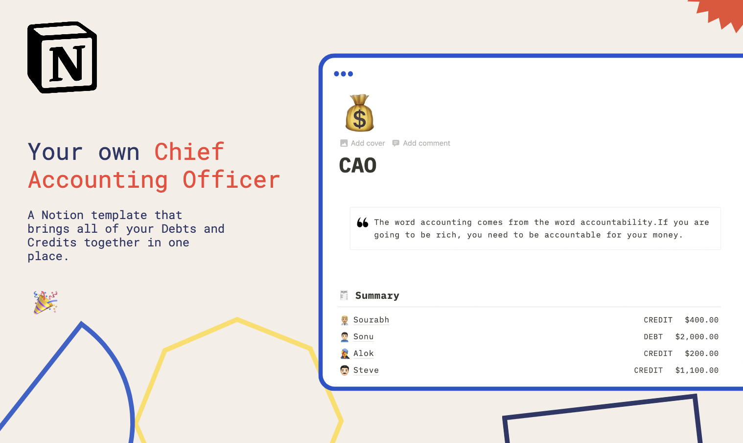 CAO-Chief Accounting Officer