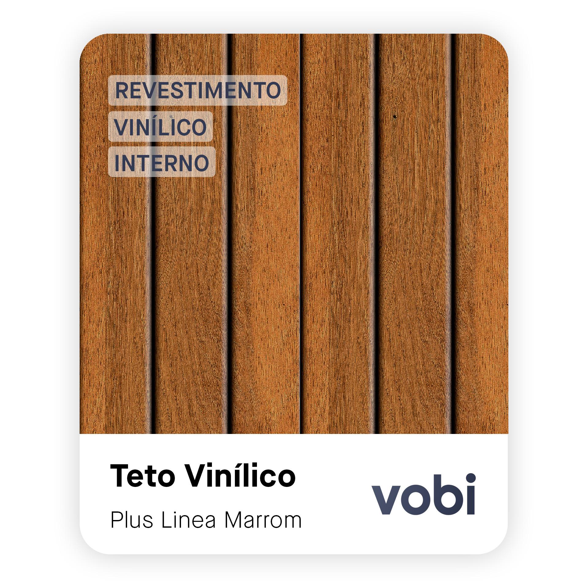 teto vinílico madeira