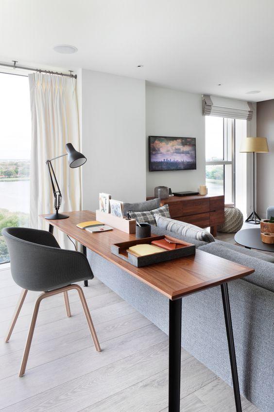 home office integrado sala