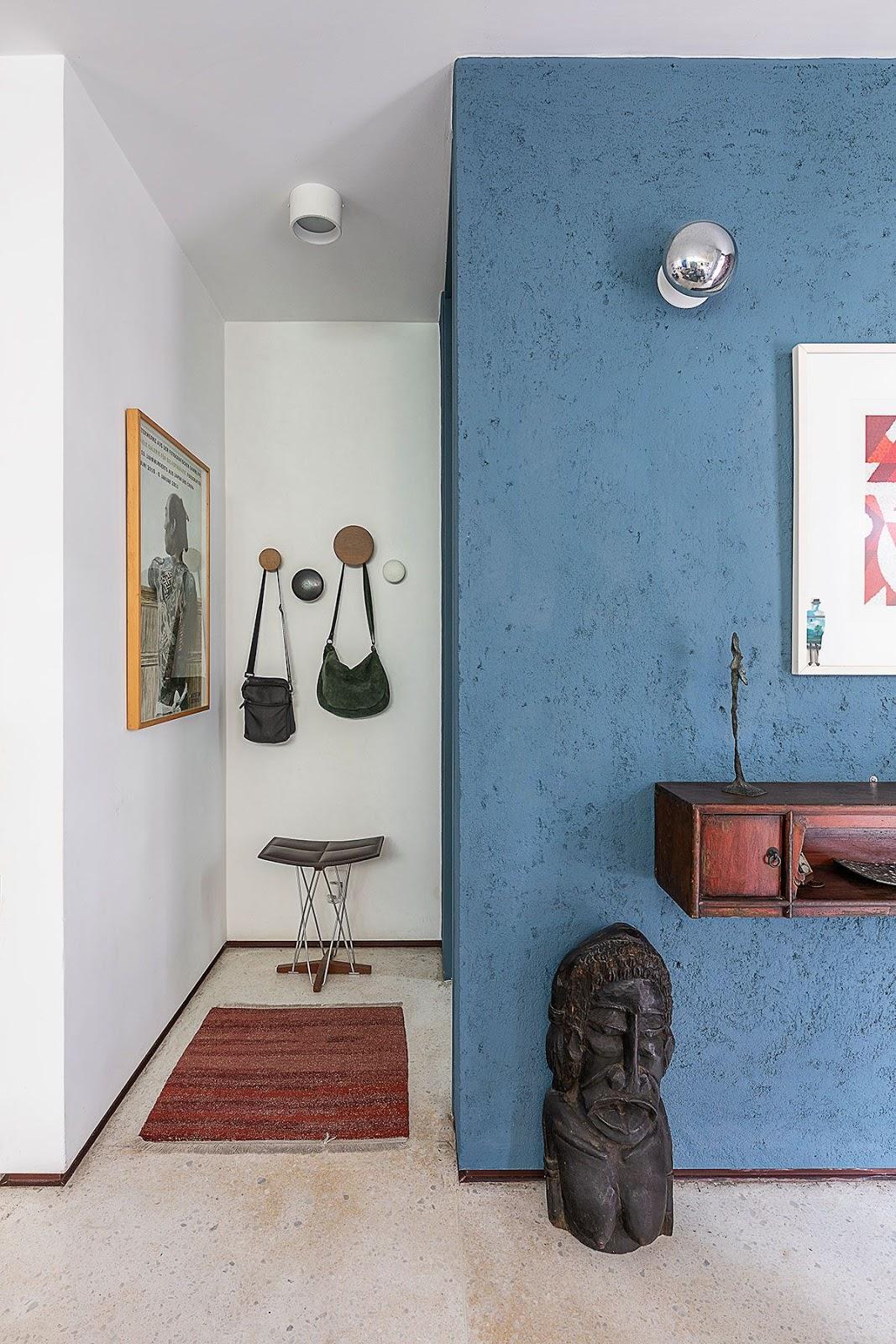 parede azul textura