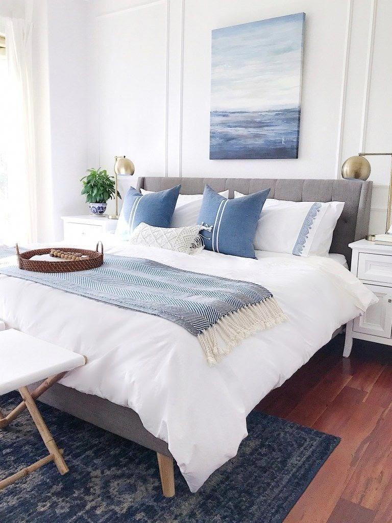 quarto casal decoração azul