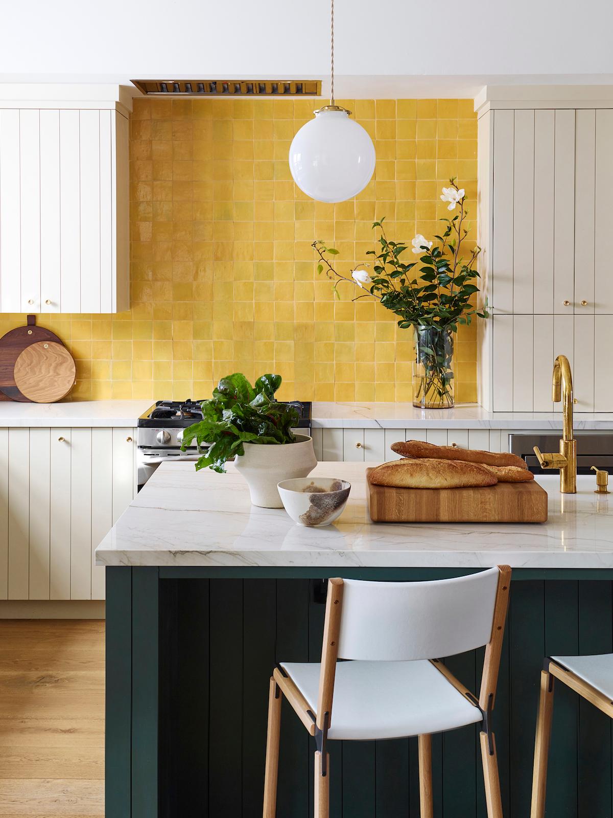 cozinha azulejo quadrado amarelo