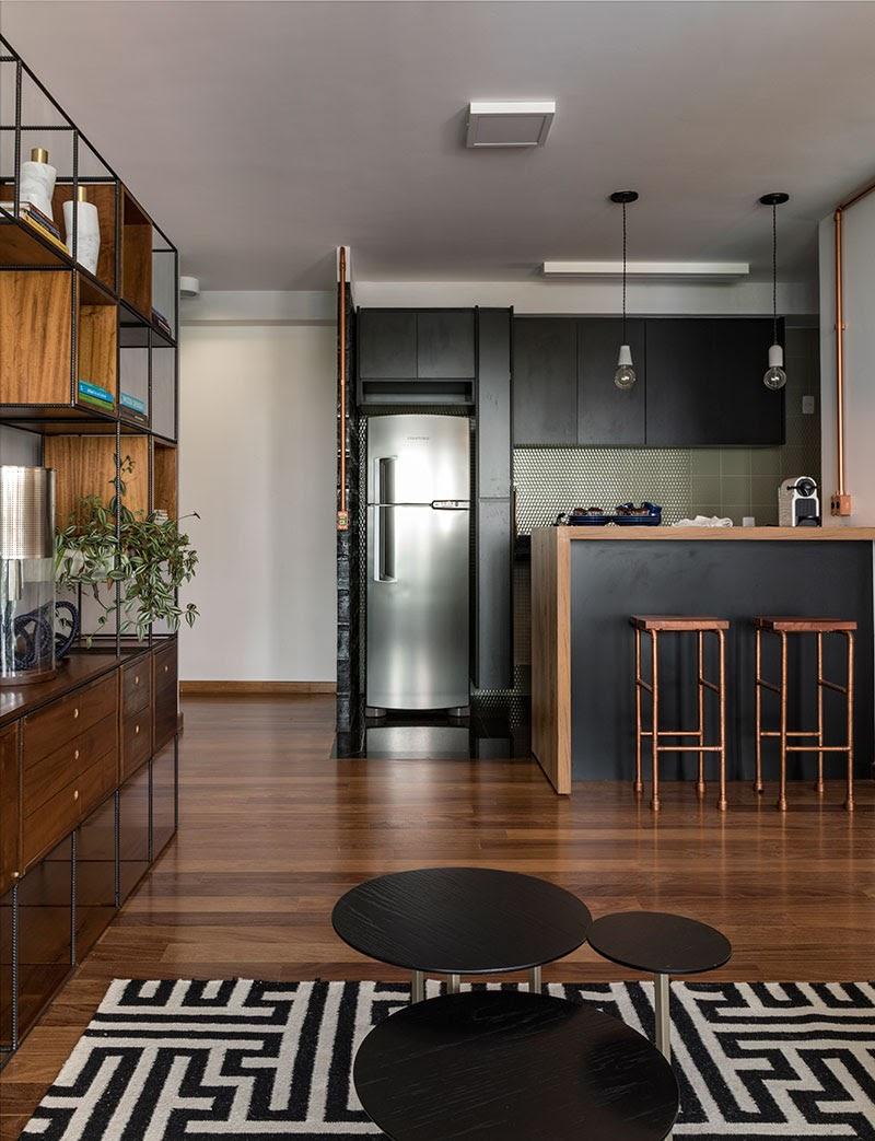 apartamento pequeno cozinha integrada
